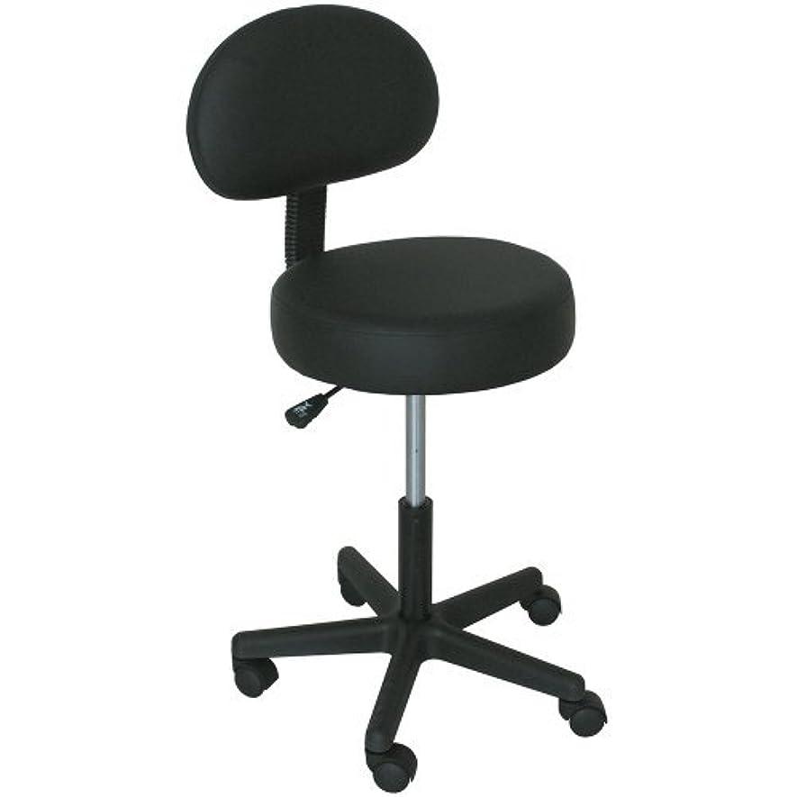割り当て冒険家生産性Massage Pro Massage Stool with Back Black [並行輸入品]