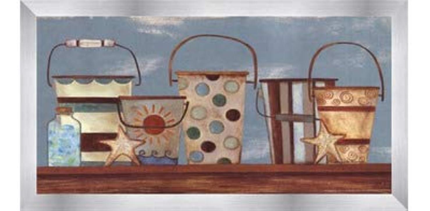 ブロック農夫最小Vintage Beach Pails I by Bernadette Deming – 16 x 8インチ – アートプリントポスター LE_613826-F9935-16x8
