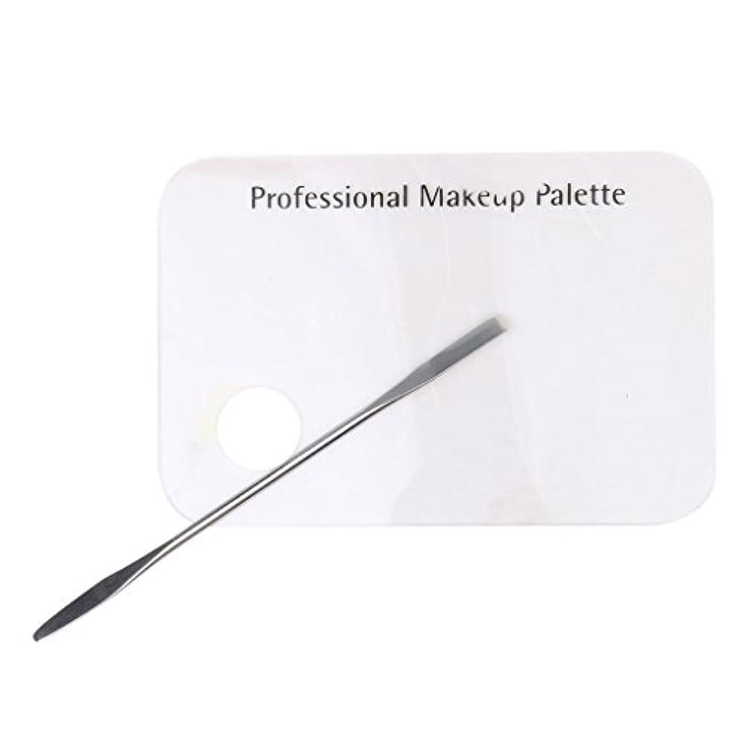 一般化するフロント置くためにパックCUTICATE アクリルパレット スパチュラ メイクアップパレット 化粧 ミキシングツールキット