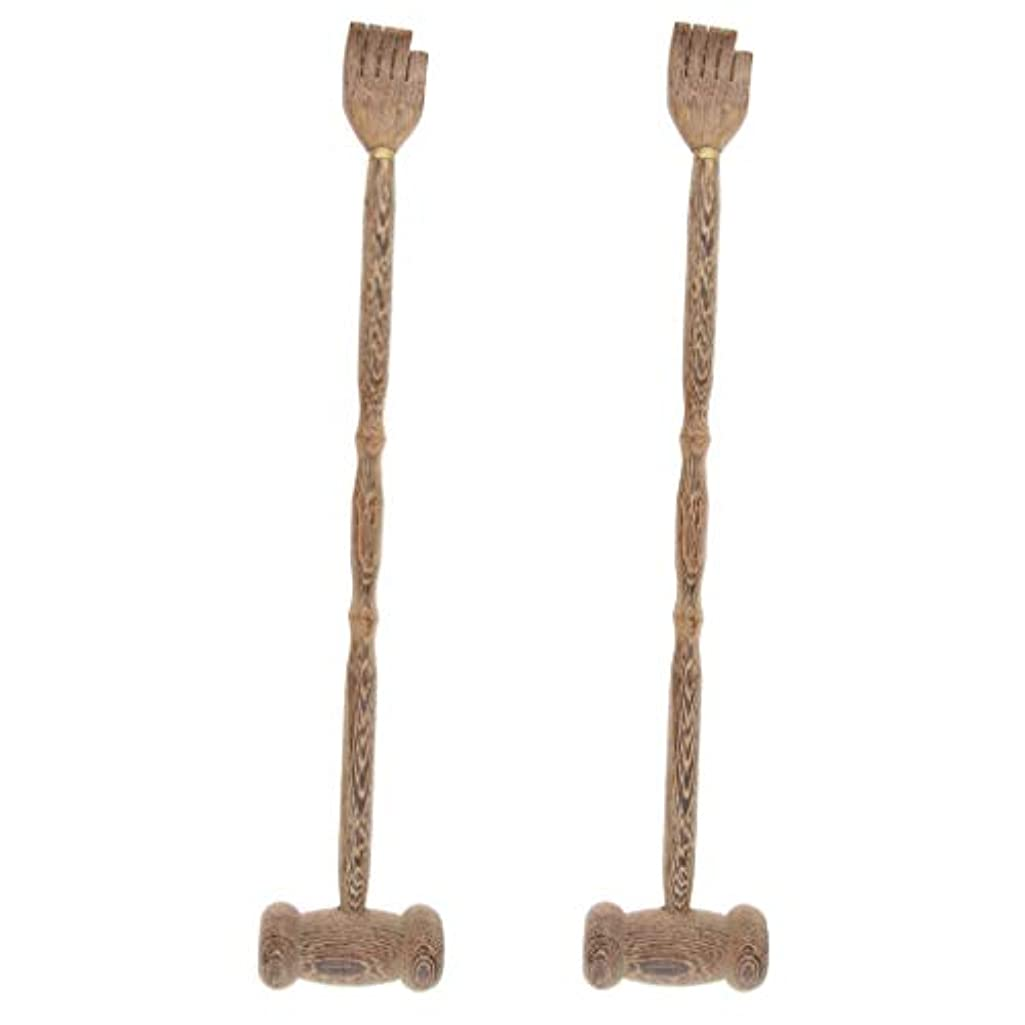 刈る君主シンクB Blesiya マッサージハンマー ハンマーノック ボディマッサージ クロー 木製 多機能 贈り物 2個入