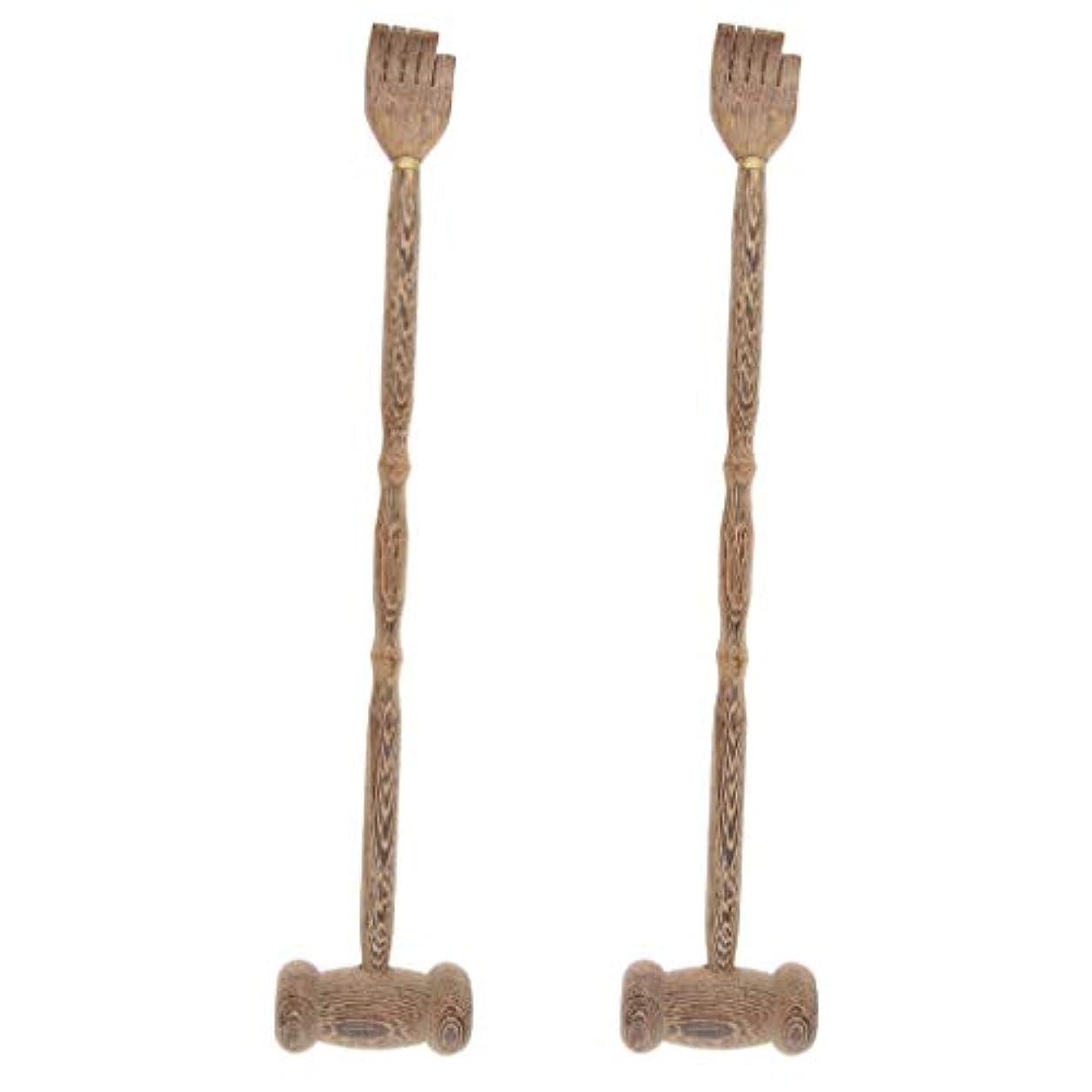 地雷原成功ゆりかごB Blesiya マッサージハンマー ハンマーノック ボディマッサージ クロー 木製 多機能 贈り物 2個入
