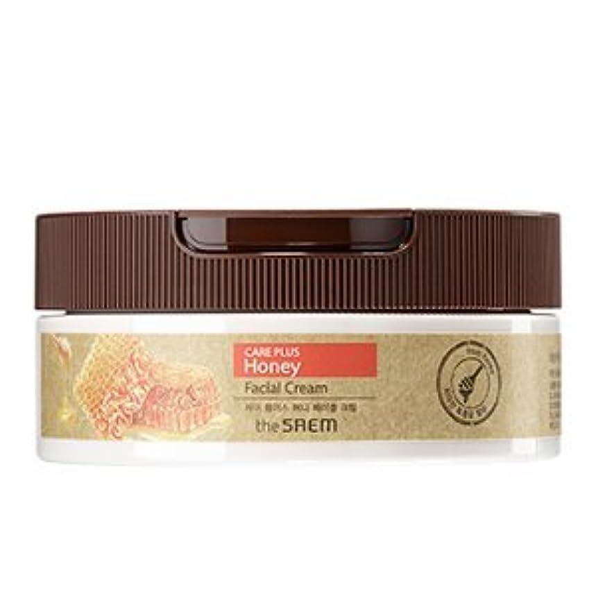 韓国語何よりものりthe SAEM Care Plus Honey Facial Cream 200ml/ザセム ケア プラス ハニー フェイシャル クリーム 200ml [並行輸入品]