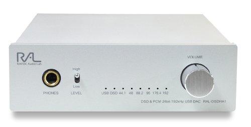 ラトックシステム DSD & PCM 24bit/192kHz対応 USB D/Aコンバーター RAL-DSDHA1
