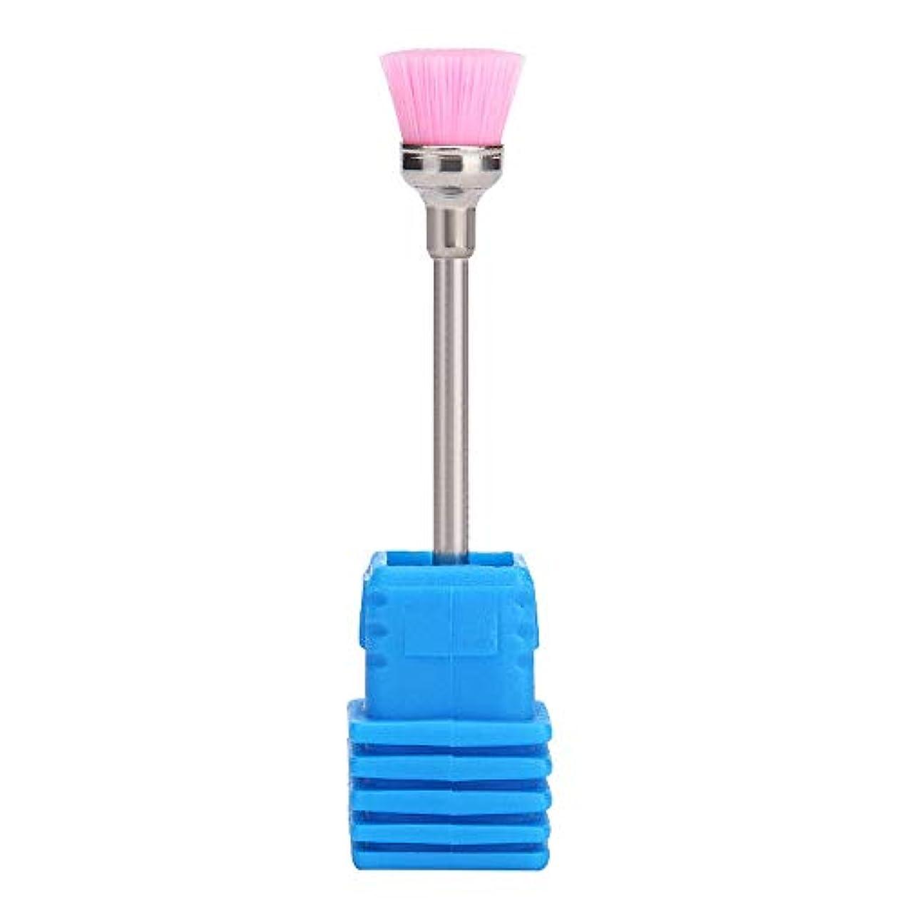 気候促進するほかにLazayyii 女性 ネイルブラシ ネイル ドリルビット 清掃用具 (ピンク)