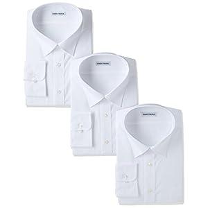 (ハルヤマ) HARUYAMA(ハルヤマ) 42サイズ展開 形態安定加工 イージーケア長袖白セミワイドカラーワイシャツ 3枚セット M151170002 01 ホワイト 4888(首回り48cm×裄丈88cm)