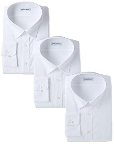 (ハルヤマ) HARUYAMA(ハルヤマ) 42サイズ展開 形態安定加工 イージーケア長袖白セミワイドカラーワイシャツ 3枚セット M151170002 01 ホワイト 4178(首回り41cm×裄丈78cm)