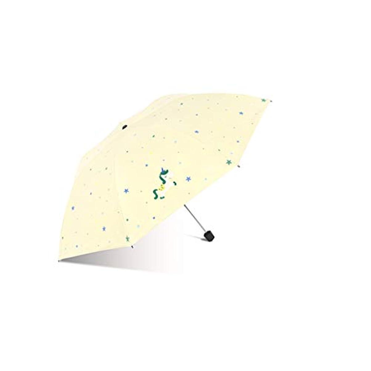 凝視豊富なまっすぐにする日傘、自動開閉開閉トラベル傘強化換気と防風フレームポータブルコンパクト折りたたみ式軽量設計と高風抵抗(ブルー) (Color : Yellow, Size : L)