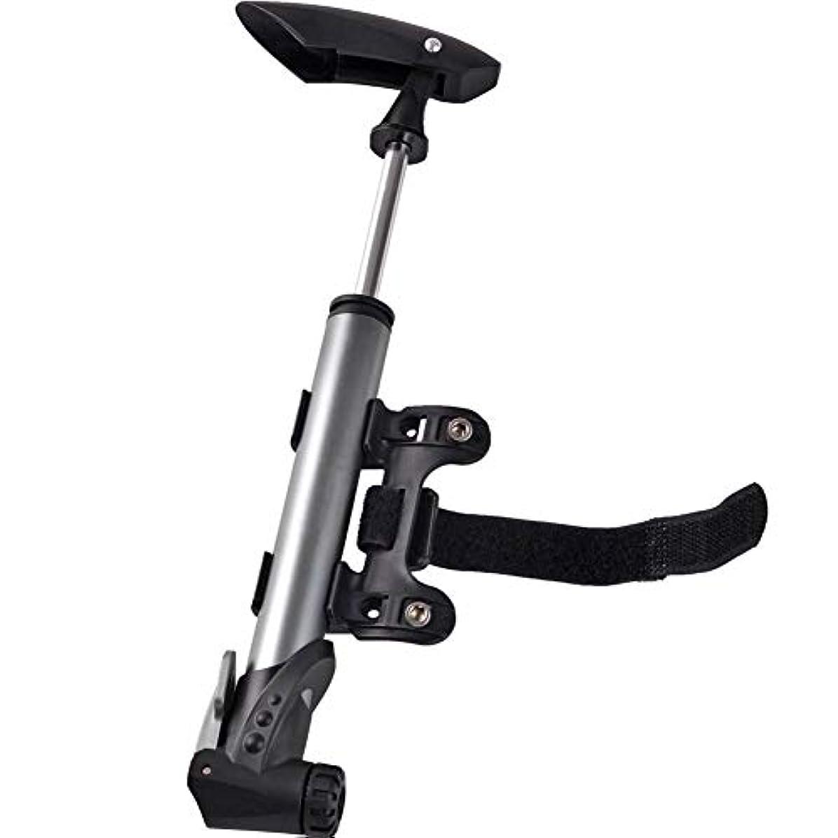 つづり優遇信じる高圧携帯用自転車ポンプ、アルミ合金の小型バイクの膨脹可能な用具、マウンテンバイクのために適した120PSI高圧、バスケットボール、サッカーボール
