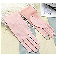 Ladies Summer Wrist Full Fingers Sun Protection Outdoor Driving Touchscreen Gloves