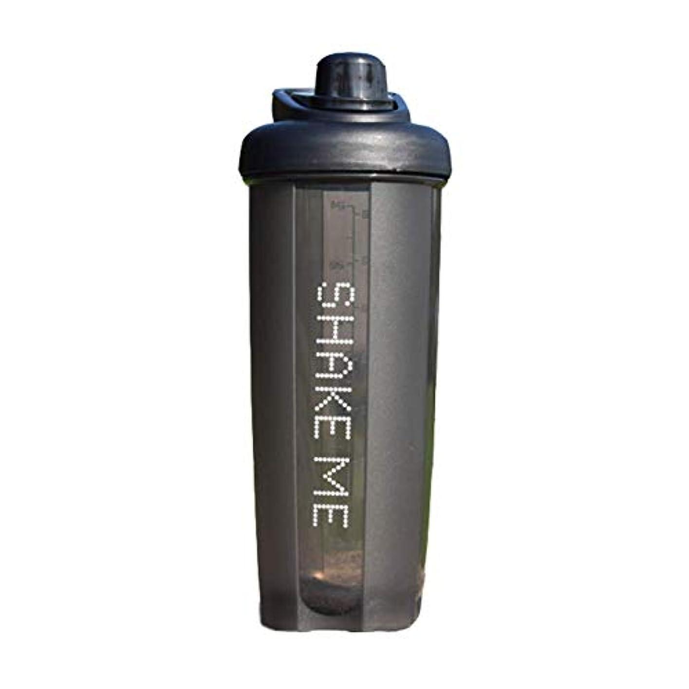 盆地監督する砂漠GOIOD ブレンダーボトル ミキサー シェーカー ボトル Classic (500-700ml) ブラック