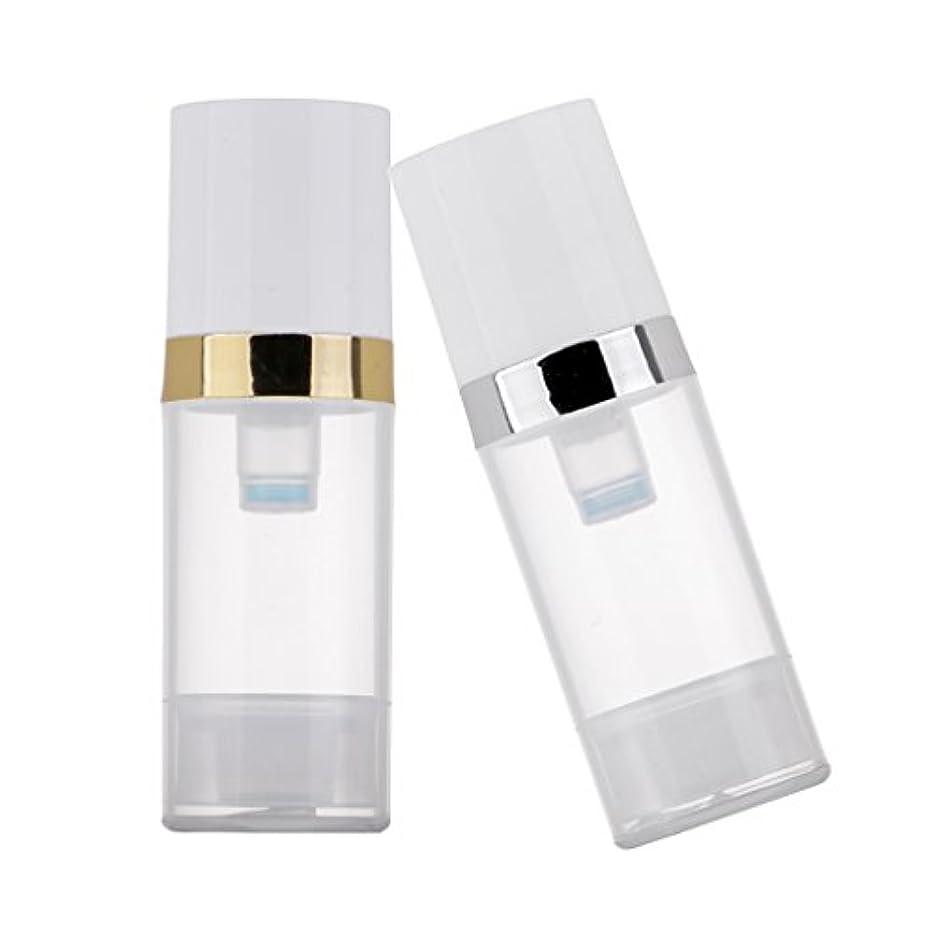 第九コントラスト2個 ポンプボトル ディスペンサー 10ml クリア 真空 プレスポンプボトル 化粧品 ローション コンテナ 詰め替え可