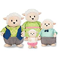 Li'l Woodzeez Snipadoodles Sheep Family Set with Storybook