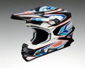 Shoei ショウエイ VFX-W BLOCK PASS Helmet 2015モデル オフロード ヘルメット ブルー/ホワイト/ブラック XL(61~62cm)