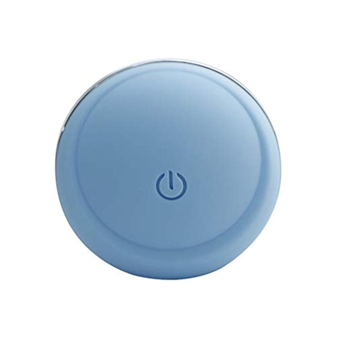 密接にステンレス玉電動洗顔ブラシ - USB 充電 携帯用電動シリコンフェイスクレンジングブラシ 3速 全身防水 洗浄機毛穴クリーナーホーム顔美容機器ホーム