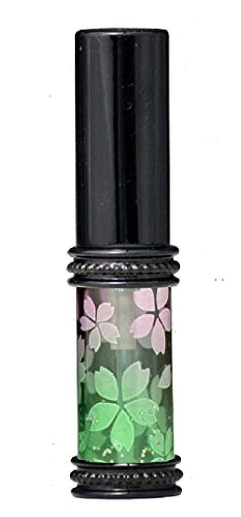 旅客スタジオ興奮ヒロセアトマイザー メタルラメさくらアトマイザー 16178 PK/GR(メタルラメさくら ピンク/グリーン) 真鍮玉レット飾り付