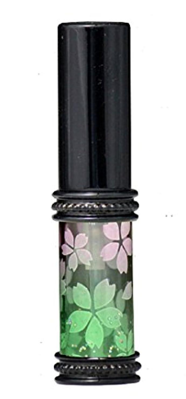 影意志に反するちょうつがいヒロセアトマイザー メタルラメさくらアトマイザー 16178 PK/GR(メタルラメさくら ピンク/グリーン) 真鍮玉レット飾り付