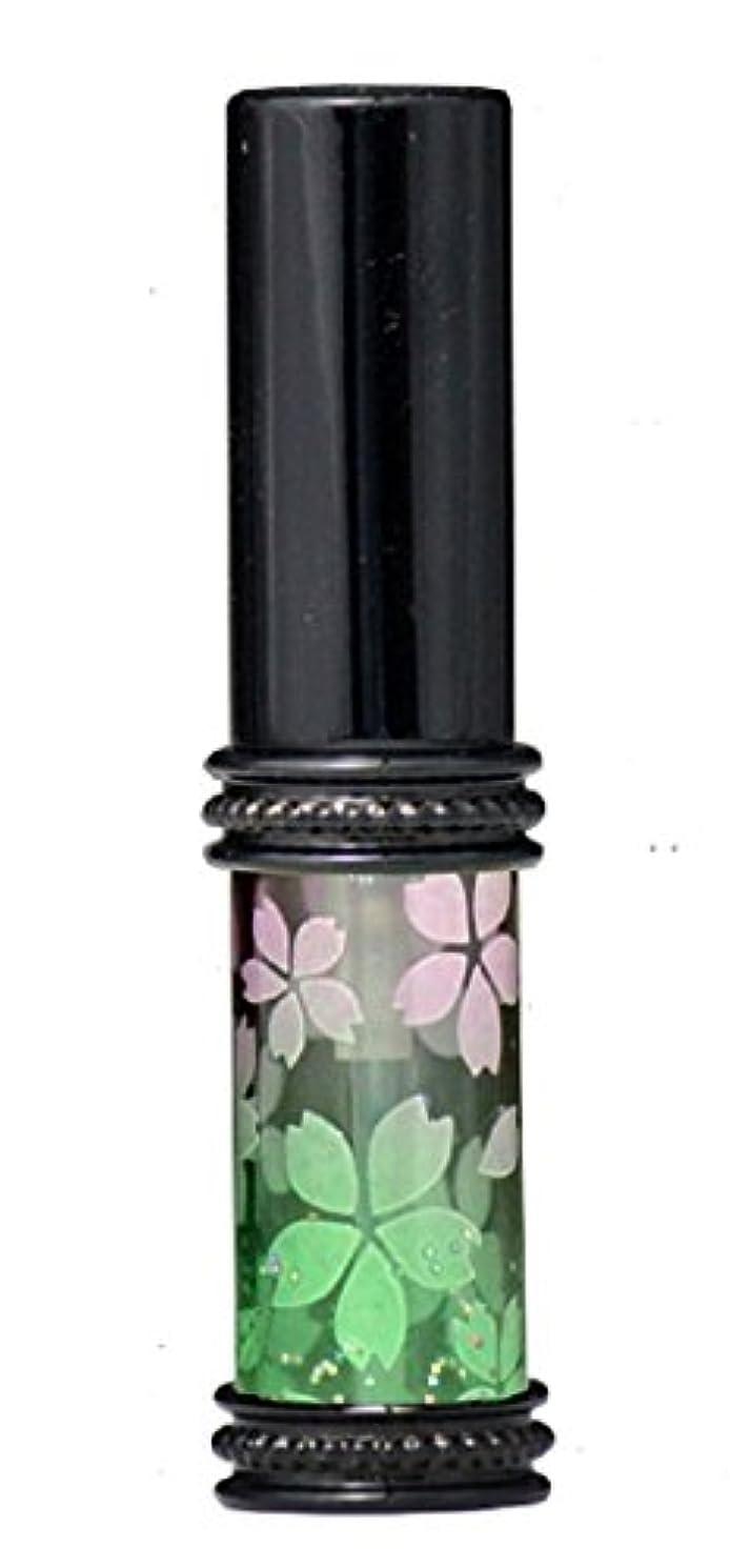 注入変換写真を撮るヒロセアトマイザー メタルラメさくらアトマイザー 16178 PK/GR(メタルラメさくら ピンク/グリーン) 真鍮玉レット飾り付