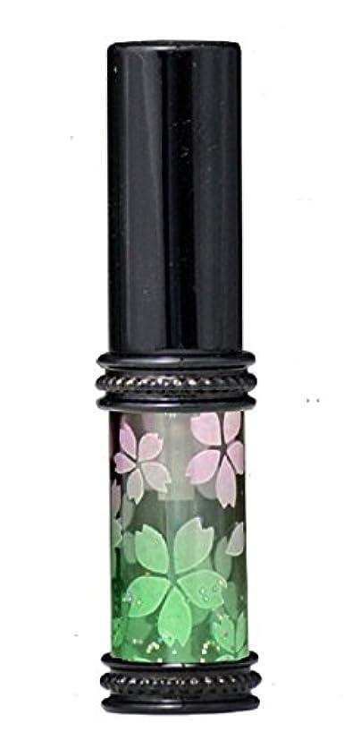 のぞき見適度な定規ヒロセアトマイザー メタルラメさくらアトマイザー 16178 PK/GR(メタルラメさくら ピンク/グリーン) 真鍮玉レット飾り付