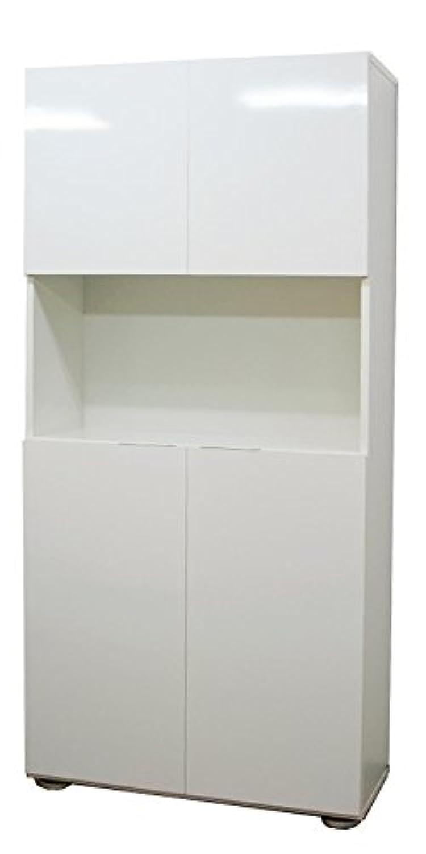 家具工場直販 高級素材(鏡面仕上)高級 下駄箱 (幅90/ホワイト) 日本製 下駄箱 玄関収納 シューズボックス 家具ファクトリー