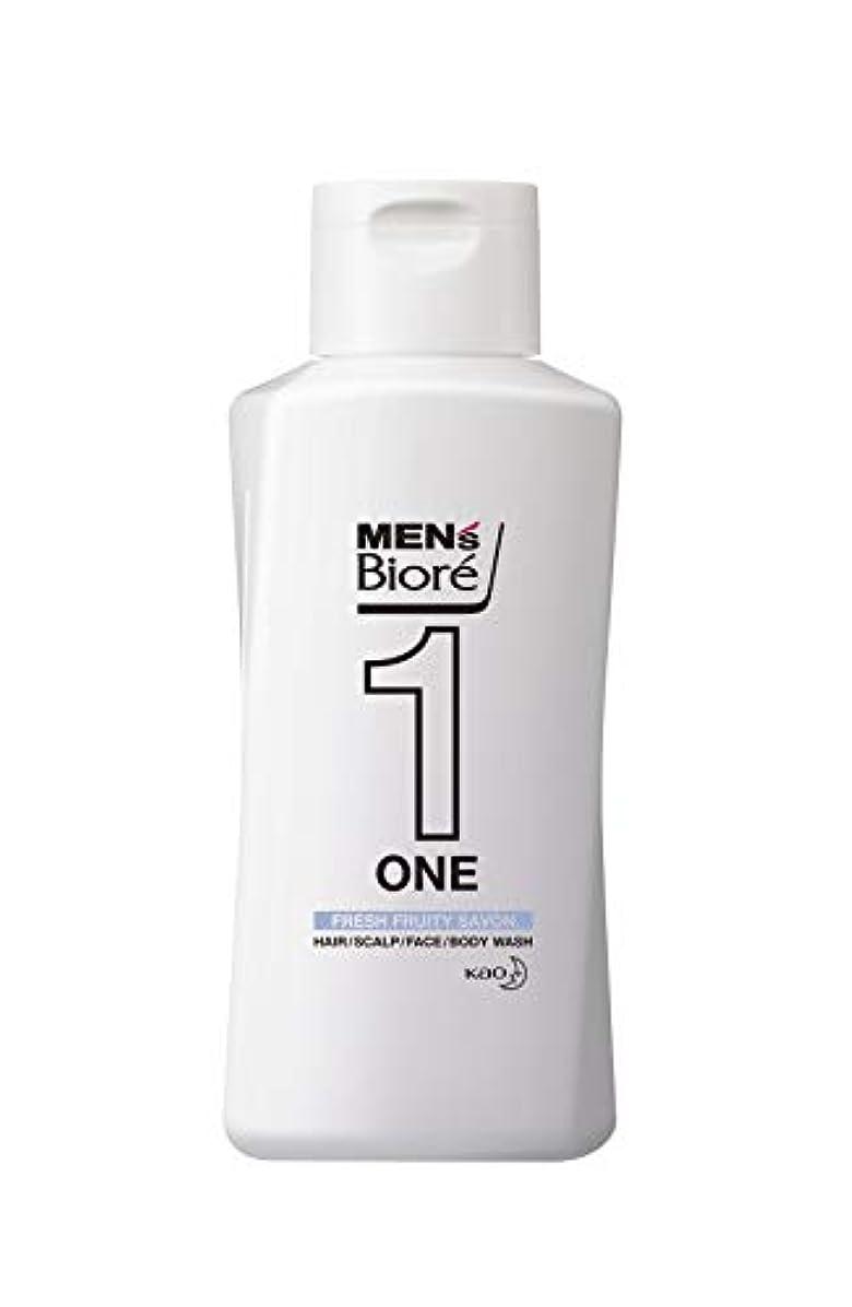 規範レザー持続的メンズビオレ ONE オールインワン全身洗浄料 フルーティーサボンの香り レギュラー 200ml