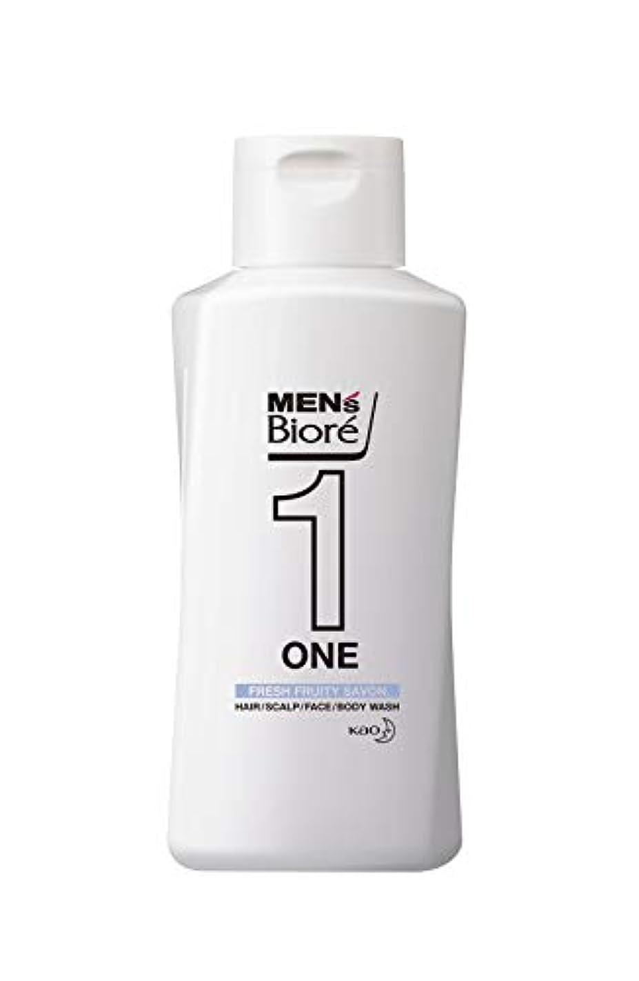 ミニシーン子供時代メンズビオレ ONE オールインワン全身洗浄料 フルーティーサボンの香り レギュラー 200ml