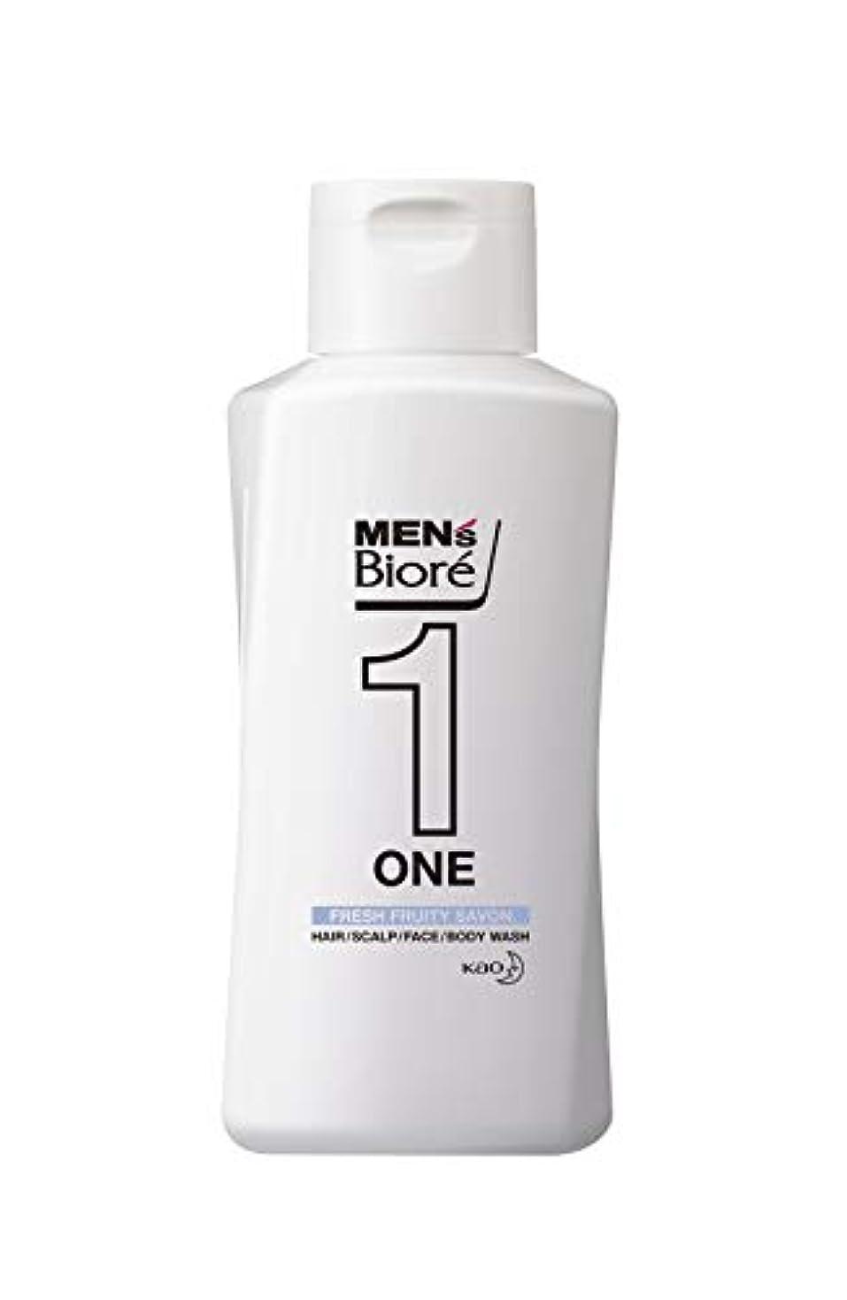 最後の中に慣性メンズビオレ ONE オールインワン全身洗浄料 フルーティーサボンの香り レギュラー 200ml