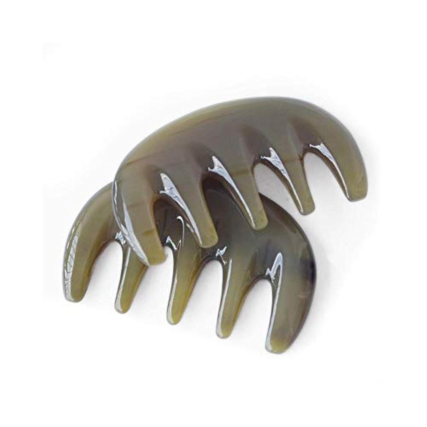 陰気遊具電球KEYI 男性のくしのために手作りのバッファローホーンくしない静的ナチュラルサンダルウッドくしワイド歯櫛