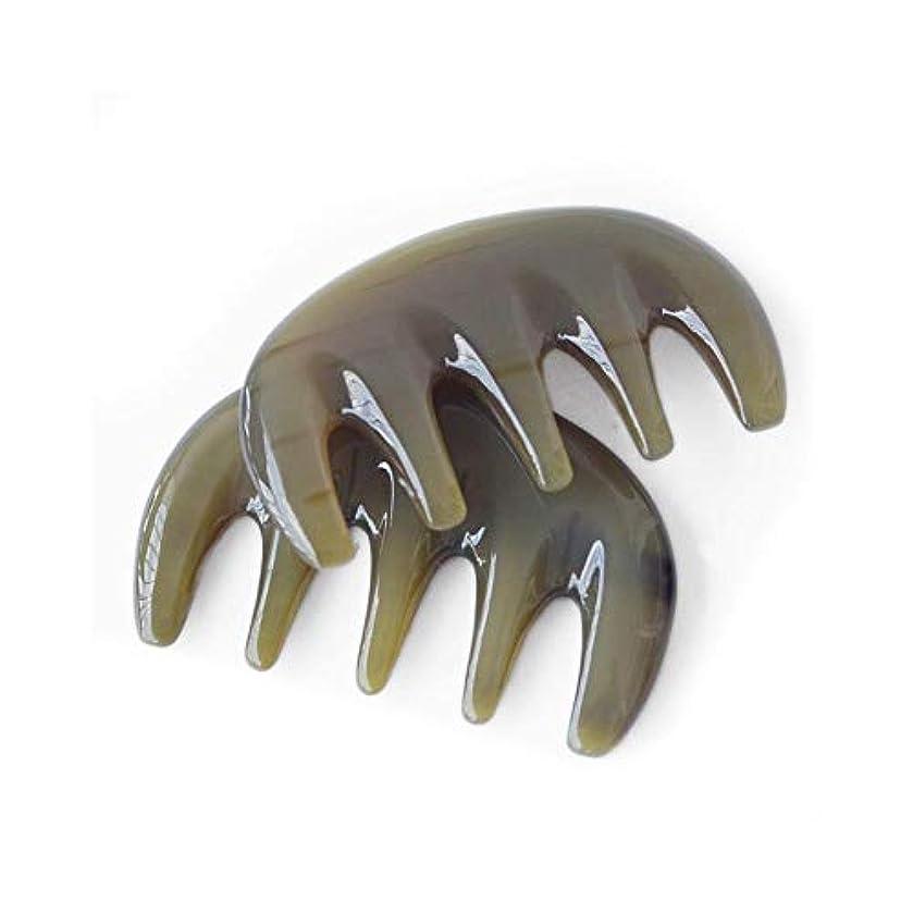 刈るチョーク構成男性用バッファローホーンくしない静的ナチュラルサンダルウッドくしワイド歯櫛 ヘアケア