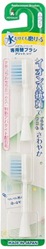 深さ聡明競争ミニマム 電動付歯ブラシ ハピカ 専用替ブラシ イオン+フラット植毛 毛の硬さ:ふつう BRT-11 2個入