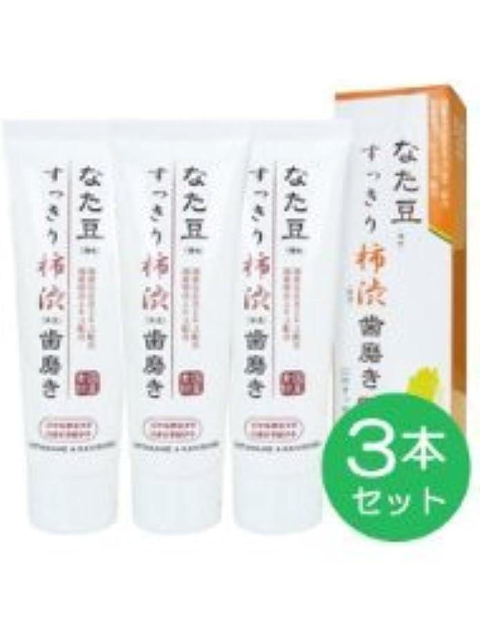 発送アーカイブ承認なた豆 すっきり 柿渋 歯磨き 120g (3本セット)