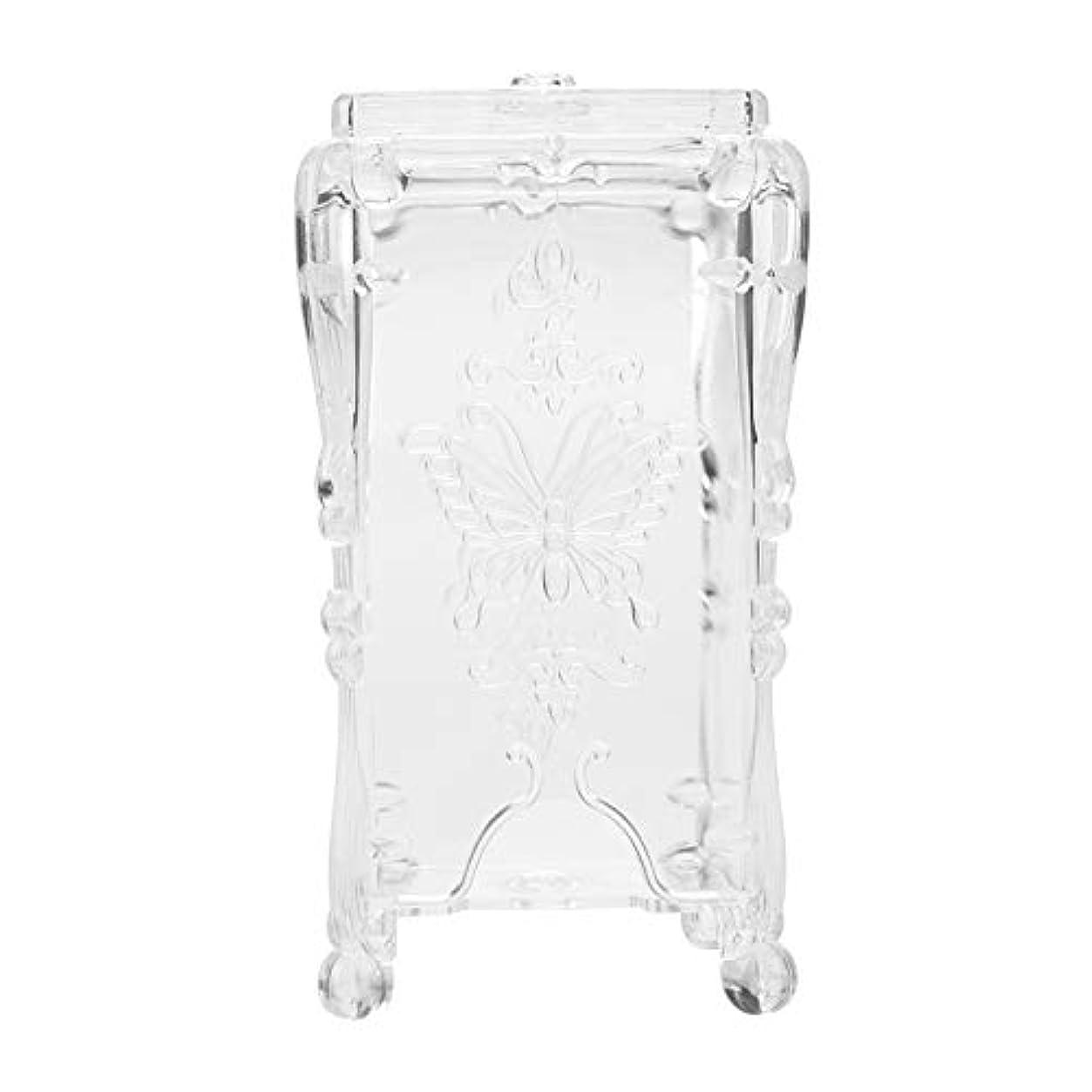 巨大なオーバーフロー勃起ネイルツール 収納ボックス ネイルアートワイプオーガナイザー 化粧コットン(03#)
