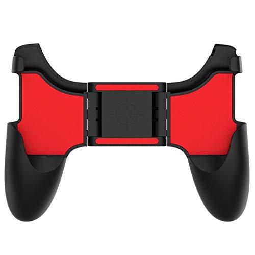 最新版 荒野行動 PUBG Mobile ゲームパッド IUGGAN ゲームハンドル グリップ ハンドルホルダー 伸縮 折り畳み可能 スマートフォンホホルダー機能付き アナログスティック 軽量