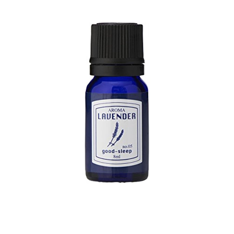 高潔なキャプション水平ブルーラベル アロマエッセンス8ml ラベンダー(アロマオイル 調合香料 芳香用 心落ち着ける清々しい香り)