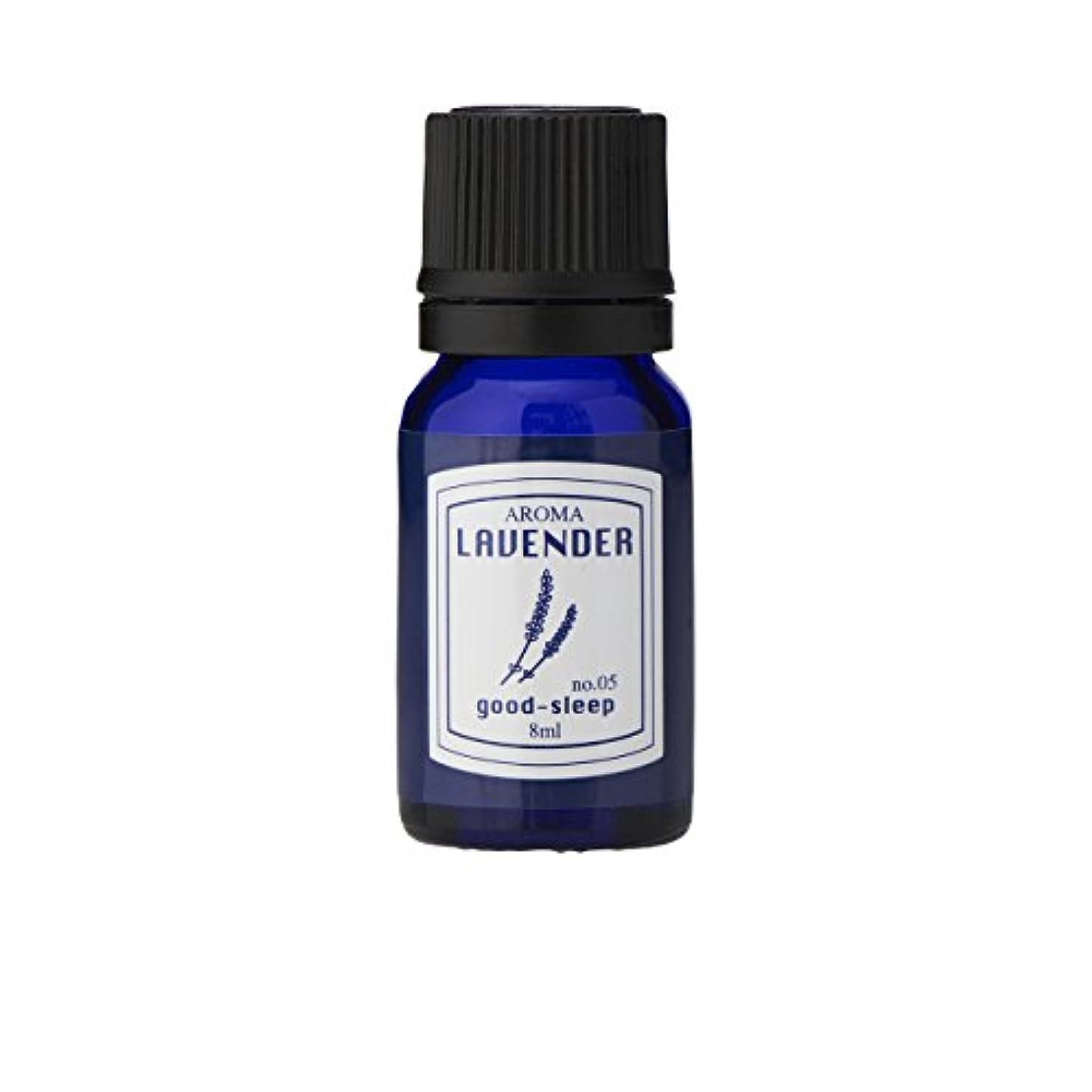 コーナー蒸発少数ブルーラベル アロマエッセンス8ml ラベンダー(アロマオイル 調合香料 芳香用 心落ち着ける清々しい香り)
