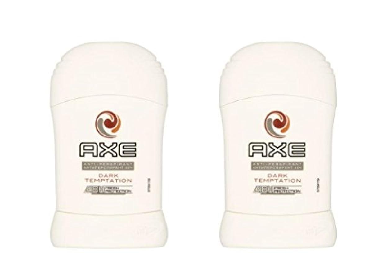 執着シールドダイヤモンド(Pack of 2) Axe Dark Temptation Anti-perspirant Deodorant Sold Stick for Men 2x50ml - (2パック)斧暗い誘惑制汗剤デオドラント固体スティック...