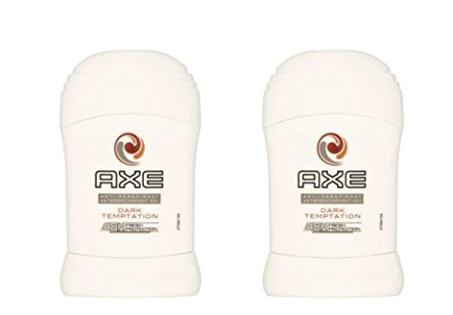 対処平野トラフ(Pack of 2) Axe Dark Temptation Anti-perspirant Deodorant Sold Stick for Men 2x50ml - (2パック)斧暗い誘惑制汗剤デオドラント固体スティック...