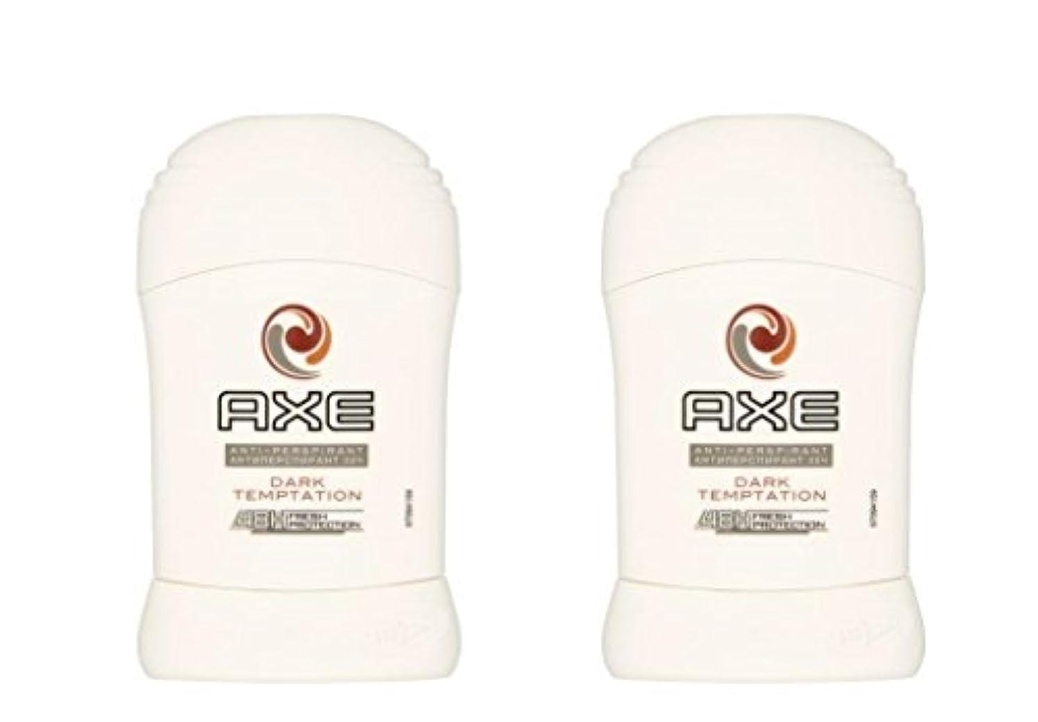 拍手する抵抗するエントリ(Pack of 2) Axe Dark Temptation Anti-perspirant Deodorant Sold Stick for Men 2x50ml - (2パック)斧暗い誘惑制汗剤デオドラント固体スティック男性用50ml