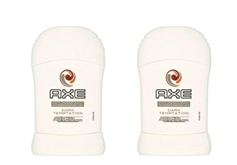 ブースブルーベル実験的(Pack of 2) Axe Dark Temptation Anti-perspirant Deodorant Sold Stick for Men 2x50ml - (2パック)斧暗い誘惑制汗剤デオドラント固体スティック...