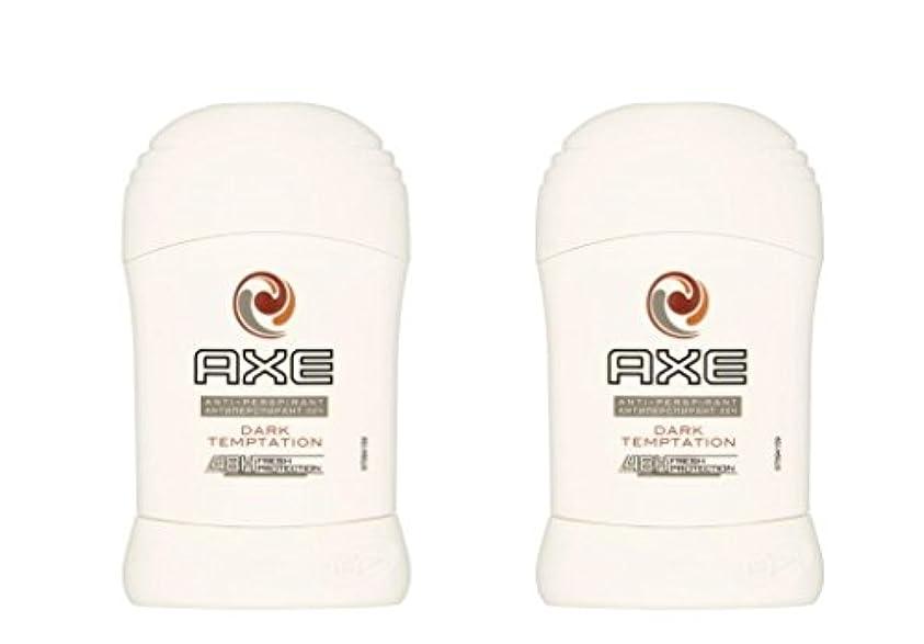 慎重にレスリング侵入(Pack of 2) Axe Dark Temptation Anti-perspirant Deodorant Sold Stick for Men 2x50ml - (2パック)斧暗い誘惑制汗剤デオドラント固体スティック...