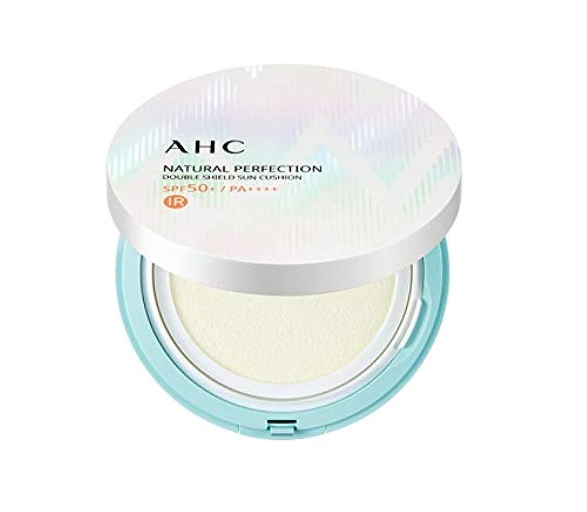 バースト休憩説明的AHC ナチュラルパーフェクションダブルシールド線クッション ホワイト 25g / AHC NATURAL PERFECTION DOUBLE SHIELD SUN CUSHION WHITE [並行輸入品]