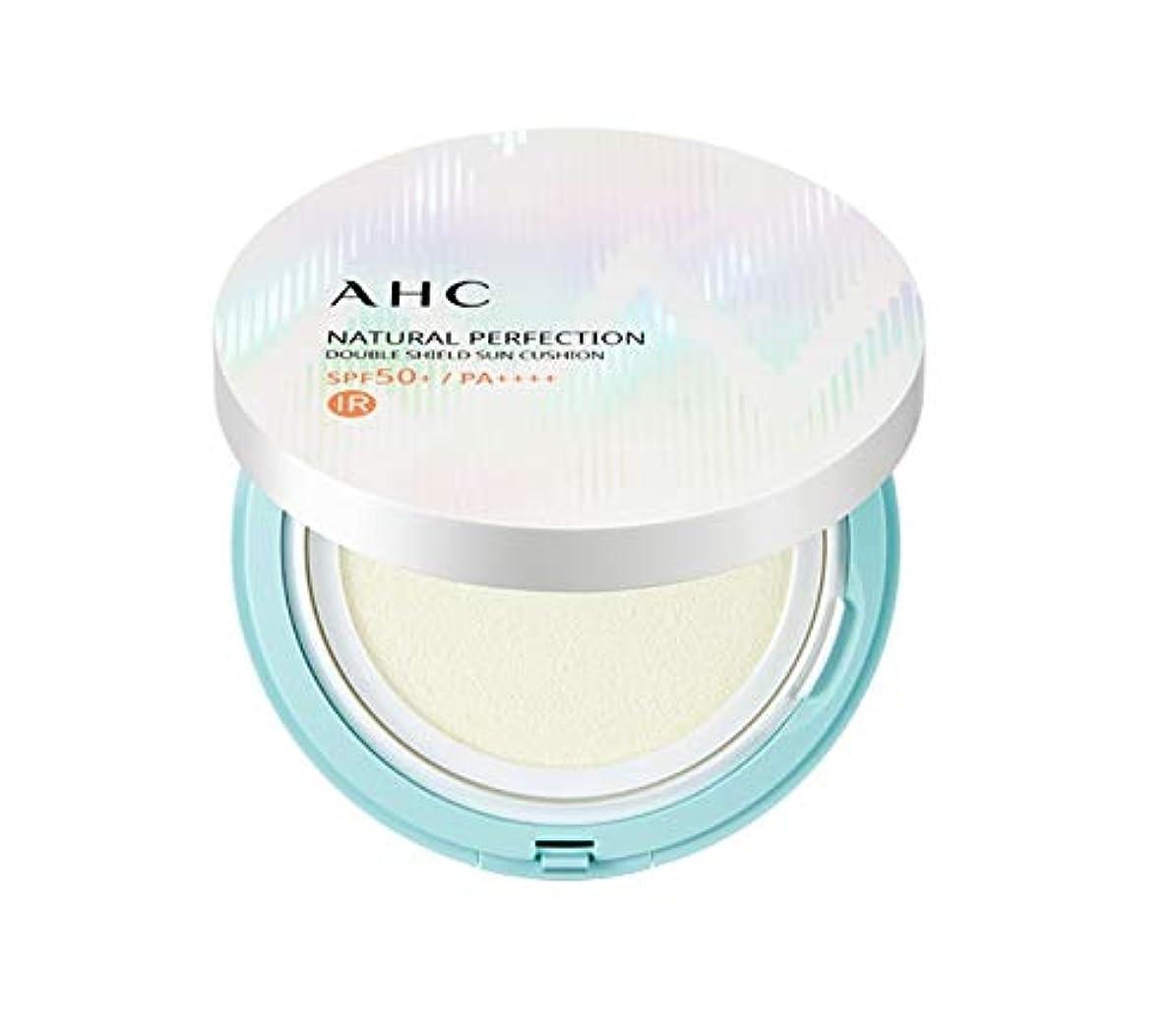 AHC ナチュラルパーフェクションダブルシールド線クッション ホワイト 25g / AHC NATURAL PERFECTION DOUBLE SHIELD SUN CUSHION WHITE [並行輸入品]