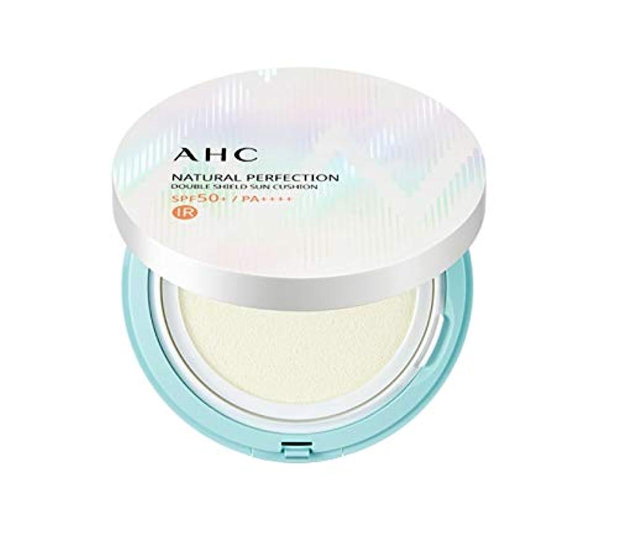 ピクニック排気タイプライターAHC ナチュラルパーフェクションダブルシールド線クッション ホワイト 25g / AHC NATURAL PERFECTION DOUBLE SHIELD SUN CUSHION WHITE [並行輸入品]