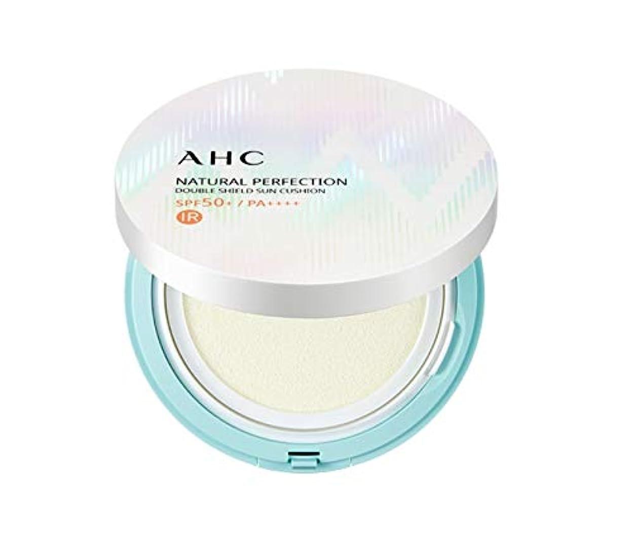 表面的な長老柱AHC ナチュラルパーフェクションダブルシールド線クッション ホワイト 25g / AHC NATURAL PERFECTION DOUBLE SHIELD SUN CUSHION WHITE [並行輸入品]