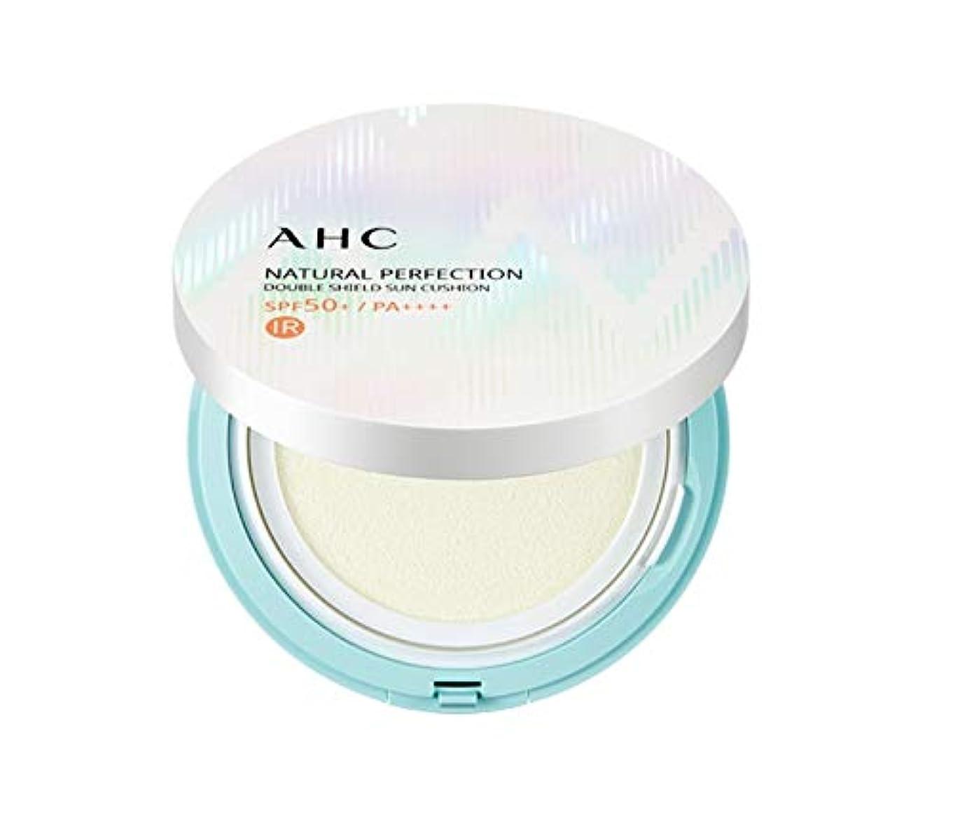 コンテンツ感じる番号AHC ナチュラルパーフェクションダブルシールド線クッション ホワイト 25g / AHC NATURAL PERFECTION DOUBLE SHIELD SUN CUSHION WHITE [並行輸入品]