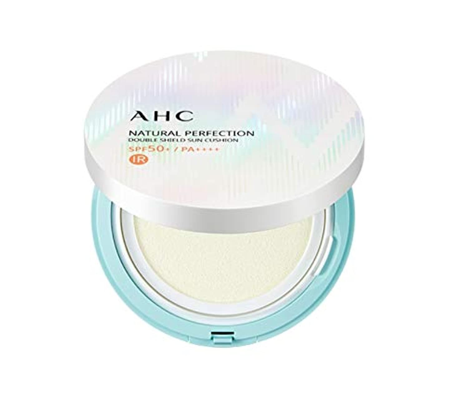 息苦しい摂氏度粉砕するAHC ナチュラルパーフェクションダブルシールド線クッション ホワイト 25g / AHC NATURAL PERFECTION DOUBLE SHIELD SUN CUSHION WHITE [並行輸入品]