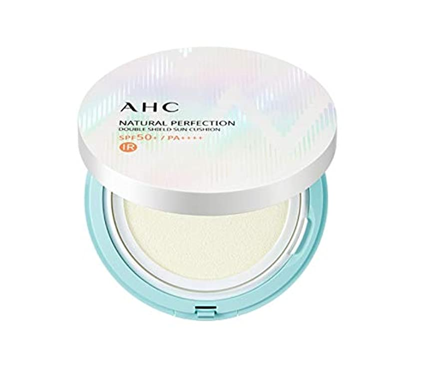 スカウト分割特徴づけるAHC ナチュラルパーフェクションダブルシールド線クッション ホワイト 25g / AHC NATURAL PERFECTION DOUBLE SHIELD SUN CUSHION WHITE [並行輸入品]