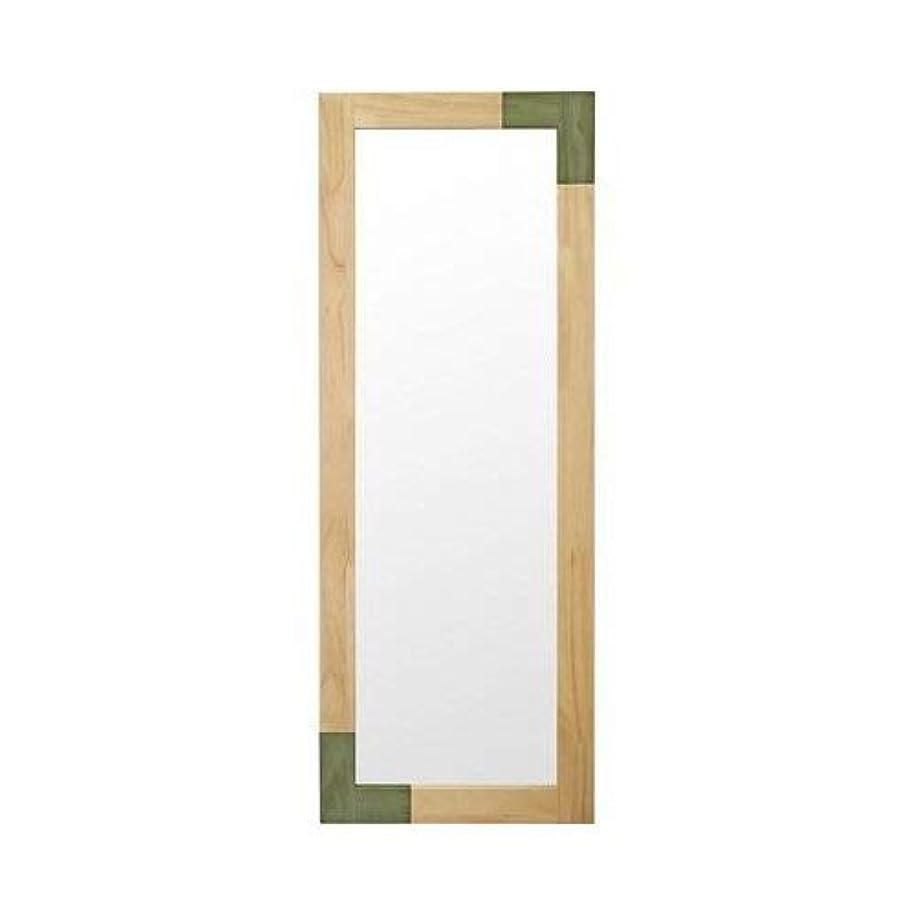 枝経由で浸す塩川光明堂 鏡 グリーン 45x3x120cm オイル塗装 ツートンカラー KACCO Long GR