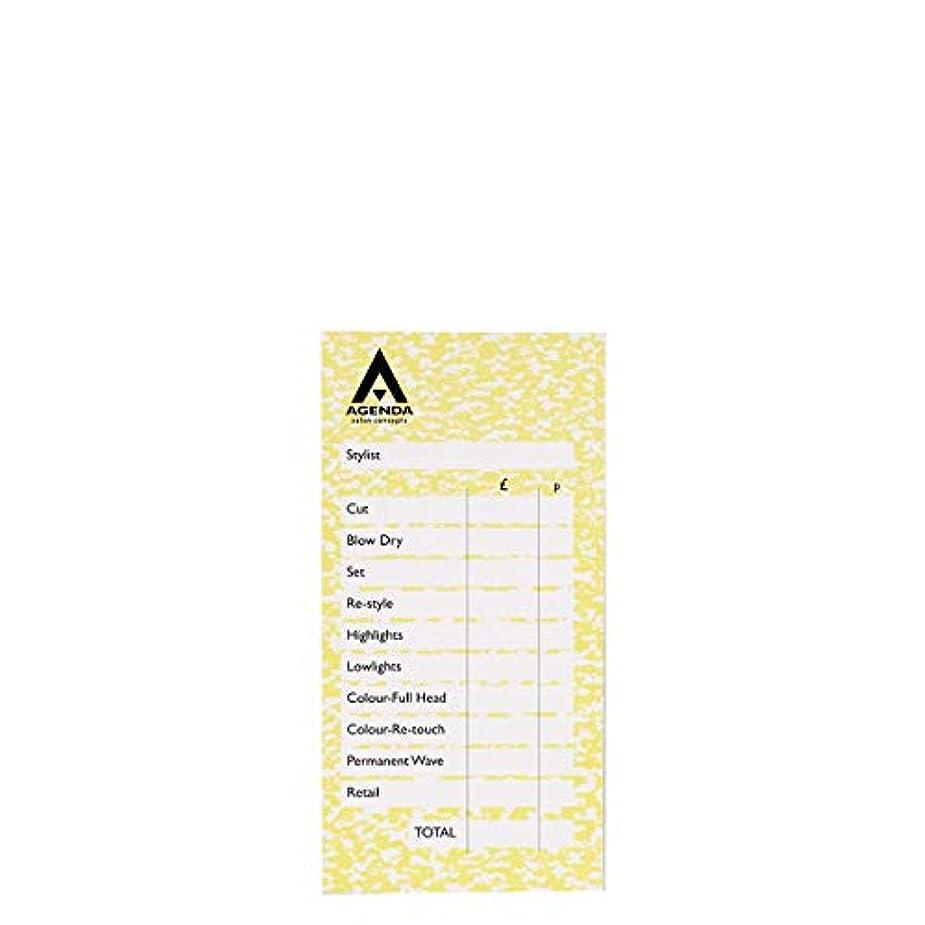 骨バッチバーゲンアジェンダ サロンコンセプト チェックパッドイエロー6x100リーフ[海外直送品] [並行輸入品]