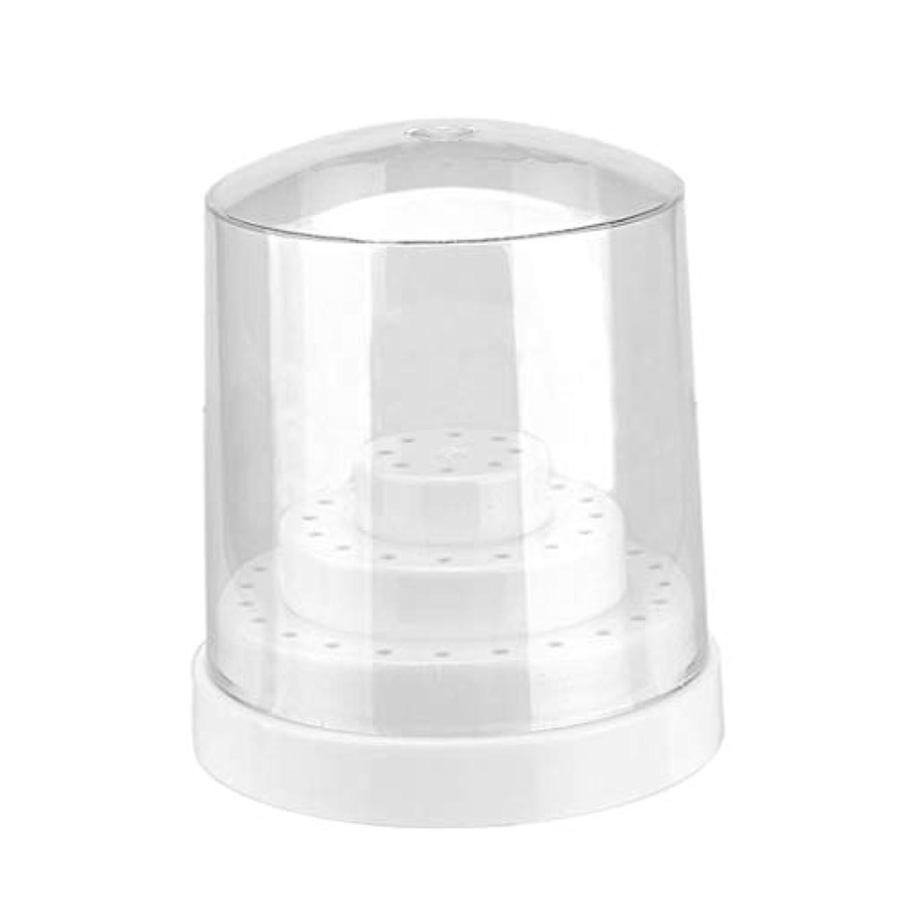 付添人生き返らせる測定ネイルドリルビット ネイルファイル 収納ケース オーガナイザー スタンド プラスチック