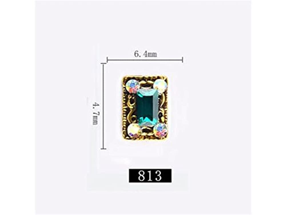 地震差し控えるフィードオンOsize 5本のラインストーンクリスタルガラスドリル3DネイルステッカーネイルアートデコレーションDIYネイルチップ(図示)
